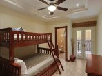 Guest bedroom with bunk bed setup