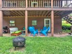This 2,300-square-foot cabin is nestled on 3.5 quiet acres of rural farmland and is great for barbecues, family...