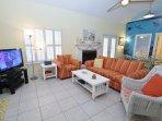 Inviting Living Room With Sleeper Sofa