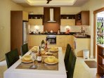 Kitchen and Dining  area with attractive patio garden
