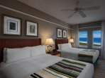 Guest bedroom with 2 queen beds and fabulous view!