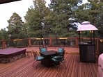 Back deck for relaxation