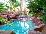 Pool resort area