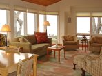 Living Room looking out toward Carmel Beach