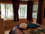 Master Bedroom (queen) with lake view and blackout curtains