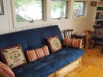 Cabin #2 Living room with futon