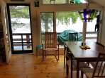 Dining area in Cabin 2- Expands to seat 8.