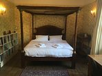 Master Bedroom with Emperor-sized (7'x7') four-poster.