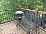 Full grill on patio below and mini Grill on your balcony.