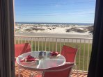 Get that million dollar view eating breakfast on the balcony! This is just outside Master BR door.