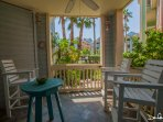 balcony  close to the pool area; gate for easy access
