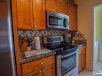 dish washer, microwave, stove, full size refrigerator, etc.
