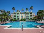 Fountain pool - one of two pools in this beach front condo