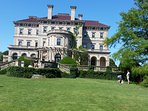 Outside the Breakers mansion