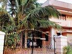 Mangalore Homestay Balakrishna near Udupi - Front View of property from Road