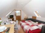 Open plan living with stable door