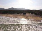 Foto de Drone na beira da praia.lindissimo