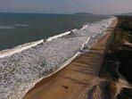 Vista aerea da linda praia do Moçambique