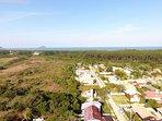 Vista aerea da localização, no bairro, do BANGALÔ