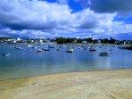 Le petit port de sainte-marine en face de Bénodet