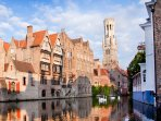 Bruges, the 'Venice of the North', is at 25 km