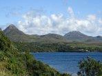 Diamond Hill and surrounding scenery of Connemara National Park