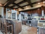 Gourmet kitchen with granite counter tops and stainless appliances!