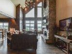 Comfy living room with huge windows and open floor plan!