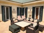 very private courtyard and terrace