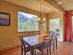 Look forward to hosting family dinner with Rocky Mountain views!