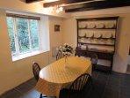 The Pool cottage dinning room