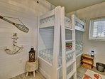 2nd Bedroom with 2 sets of bunks
