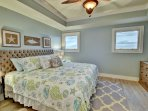 3rd bedroom with King memory foam mattress