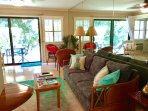 Lanai with table for 4, the ocean is steps from your door!
