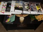 Local magazines with information regarding places and activities around town.