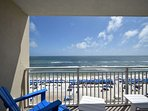 Private balcony with a beautiful view of the gulf of Mexico