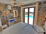 Bedroom with double bed on ground floor(two bedroom villa)