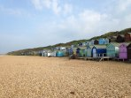 beach huts at Hordle Cliff