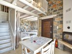 Dining table and open folding door(two bedroom villa)