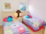 Bedroom 6 - twin bedroom with TV