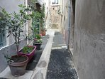 quiet cul de sac where house is situated, 1 minute from the centre of Pezenas and Saturday market