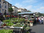 The famous Pezenas all day Saturday market.  I minute walk from the house