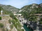 One of the many beautiful sites in the Herault, 'Le Pont du Diable' on the way to Saint Ghuilham.