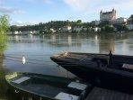 La jolie ville de Saumur, la perle de l'Anjou, et la Loire