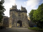 1.5 minutes from Castle Views front door to the Lancaster Castle's front door!