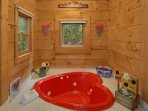 Charming, fun jacuzzi tub in your cabin!