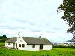 Hafan Dawel bungalow, with views over Newport bay.