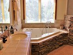 Master Bath with Jetted Tub and Shower with Rainfall Head