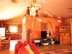 1200 sq ft 'adobe' guest house.  20 ft ceiling, full kitchen/bath (sleeps 4+)