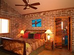 Small casita bedroom with king bed